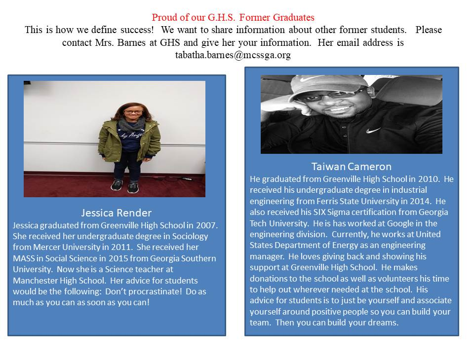 Ghs Alumni Success Stories Greenville High School